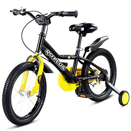 04d827b19a7 Goplus 12   Kid s Bike Freestyle Outdoor Sports Bicycle with Training  Wheels Boys Girls Cycling