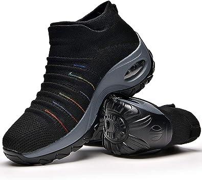 Zapatos Deporte Mujer Zapatillas Deportivas Correr Gimnasio Casual Zapatos para Caminar Mesh Running Transpirable Aumentar Más Altos Sneakers: Amazon.es: Zapatos y complementos