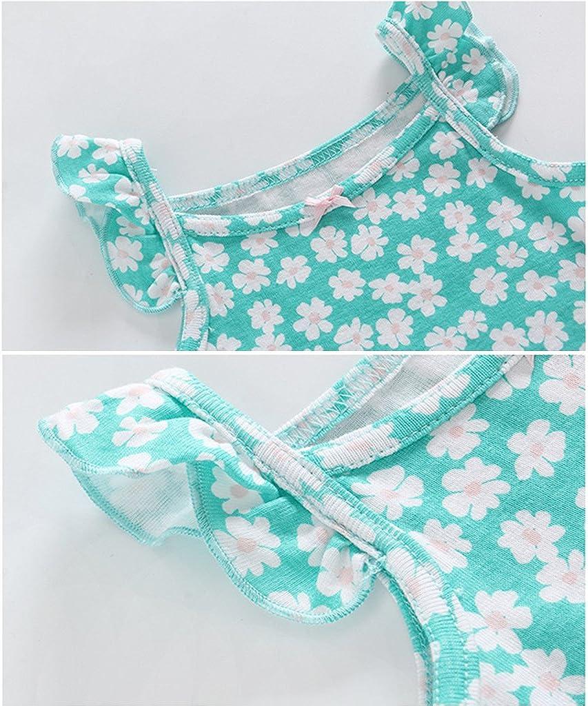 Beb/é Ni/ñas Vestido de Manga Corta Body 3 Piezas Conjuntos de Ropa Pantalones Cortos