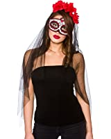 Day Of The Dead Deluxe Mask & Veil