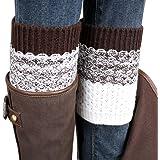 Usstore 1Pair Women Socks Lace Stretch Boot Leg Cuffs Boot Stockings