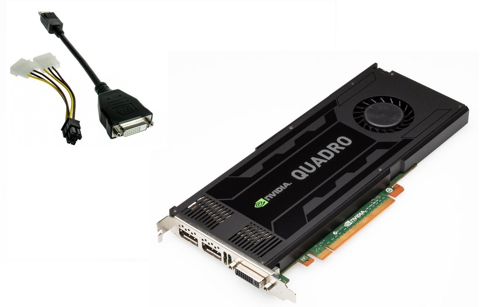 Nvidia Quadro K4000 3GB GDDR5 PCIe 2.0 x16 Dual DisplayPort DVI-I Graphics Card HP 700104-001
