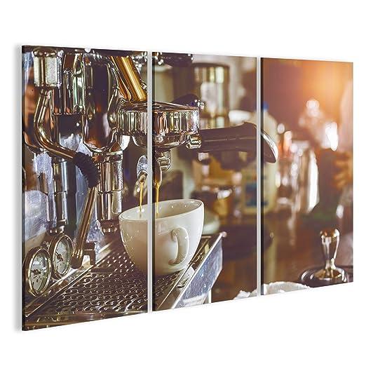 islandburner Cuadro Cuadros Máquina de café Profesional Que Hace el café Express en un café Impresión sobre Lienzo - Formato Grande - Cuadros Modernos IPF: ...