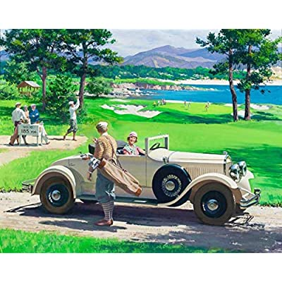 JJHPT 1000 Pieces Jigsaw Puzzles Adult Education Wooden DIY Puzzle Golf Car Home Decoration Collectiable Assembling Puzzles Gifts: Toys & Games
