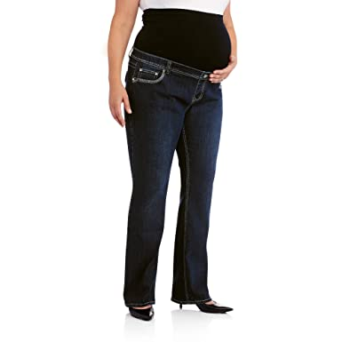 4aa7b37746a7c Denim Diva Maternity Full-Panel Bling Pocket Bootcut Jeans (4X, Blue ...