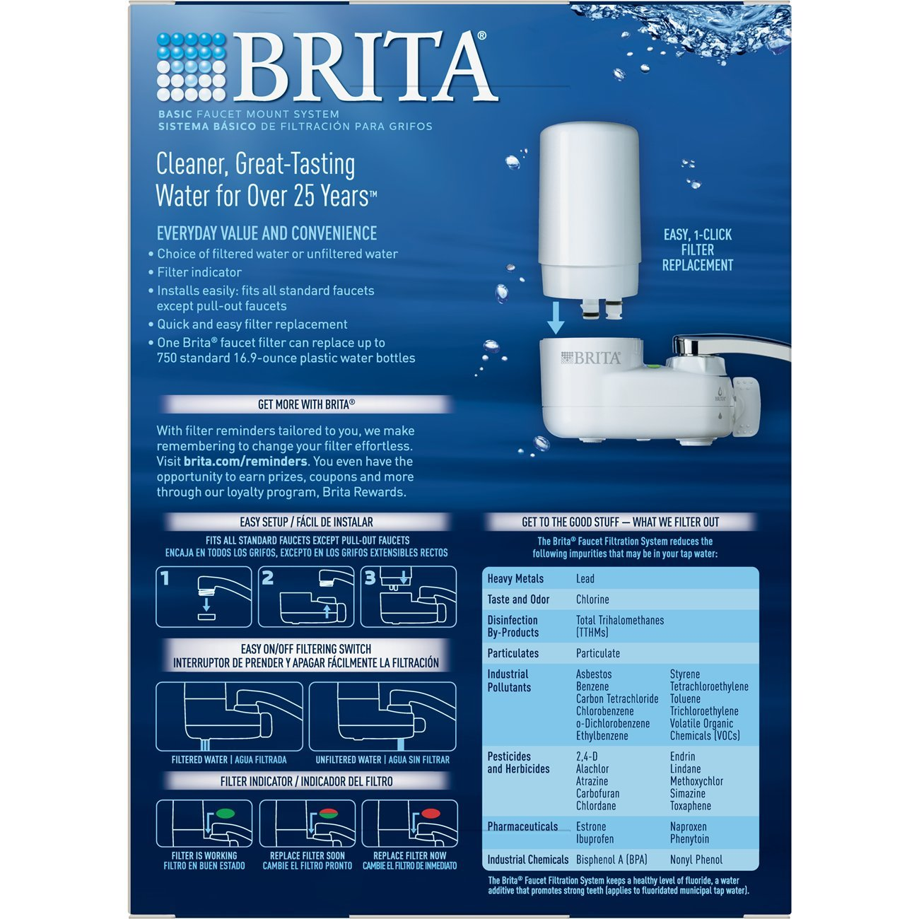 Amazon.com: Brita On Tap White Water Faucet Filtration System (Fits ...