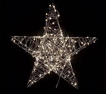 Weihnachtsdeko Auf Raten Kaufen.Deko Weihnachts Stern Mit 80 Warmweißen Leds 38x38 Cm Weihnachtsdeko Innen Außen Zum Aufhängen