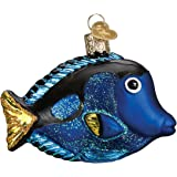 Old World Christmas Fish Collection Glass Blown Ornaments for Christmas Tree Pacific Blue Tang