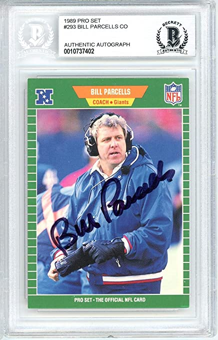 Bill Parcells Autographed 1989 Pro Set Rookie Card #293 New