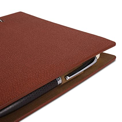 COI Ethnic Corporate Brown Business Faux Leather Undated Unique Travel Diary,Daily Planner Executive Organizer Gift for Teachers, Mom and Men with Pen: ...