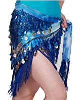 MUNAFIE Belly Dancing Belt Colorful Waist Belly Dance Hip Scarf Belt Triangle Skirt