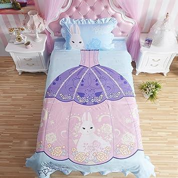 Mzpride Prinzessin Kleid Design Bettwäsche Set Fairy Mädchen