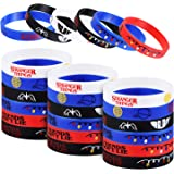 STRANGER THINGS Party Favor, 24Pcs Stranger Themed Party Silicone Rubber Bracelet Wristbands Ideal for ST Birthday Party…