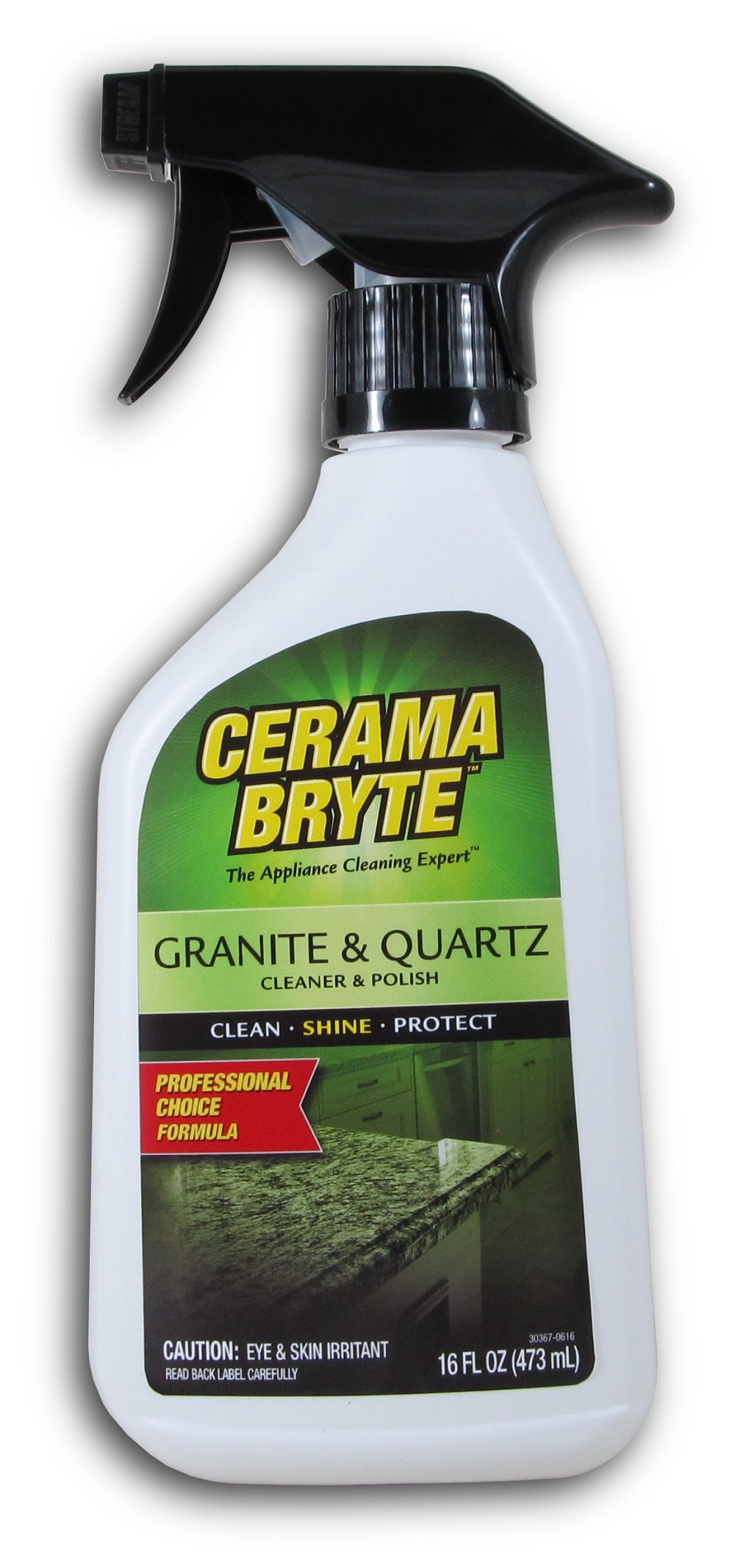 Granite & Quartz Cleaner & Polish, 16 Ounce (3 Count) by Cerama Bryte