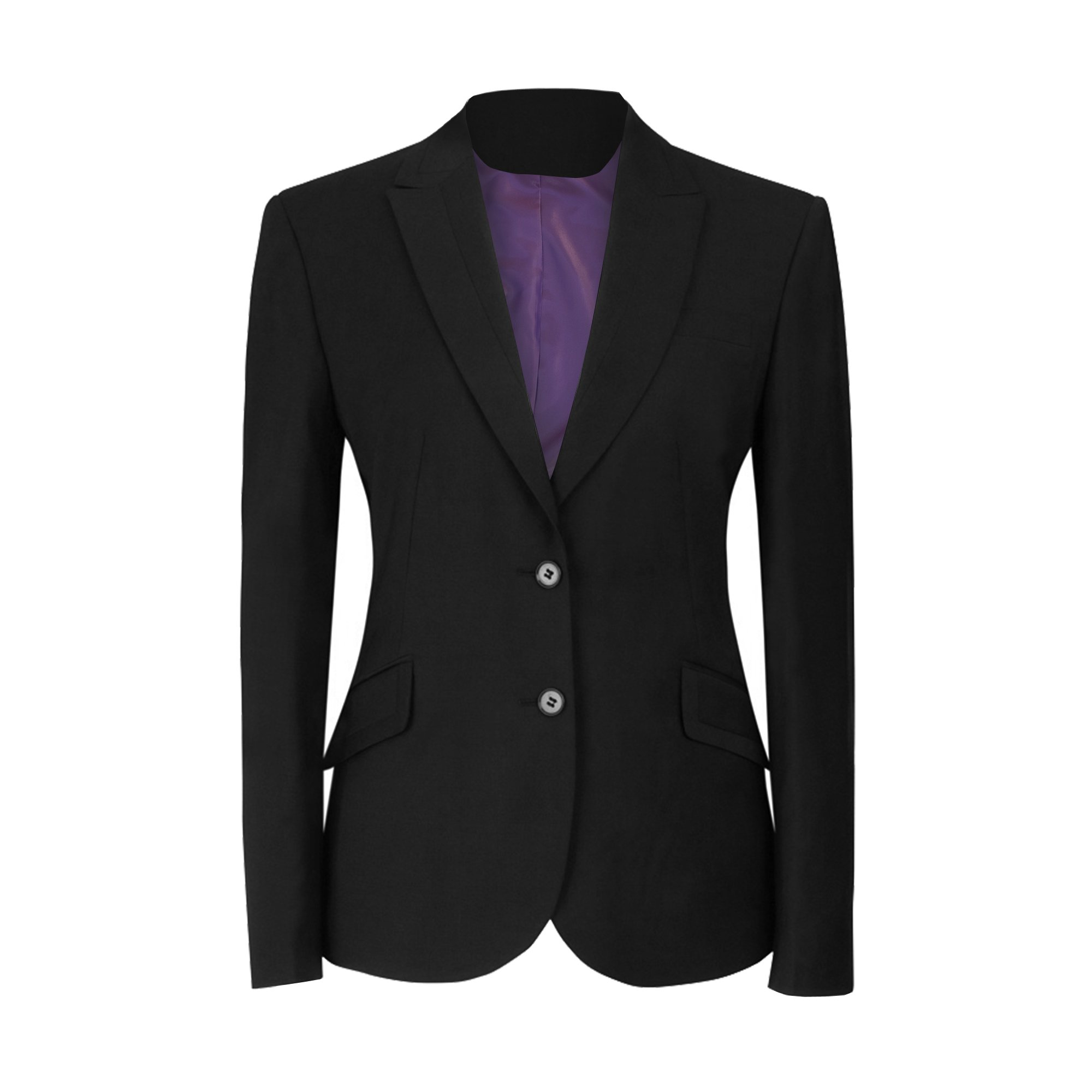 Brook Taverner Ladies/Womens Novara Semi Fitted Suit Jacket (10 x Regular) (Black) by Brook Taverner