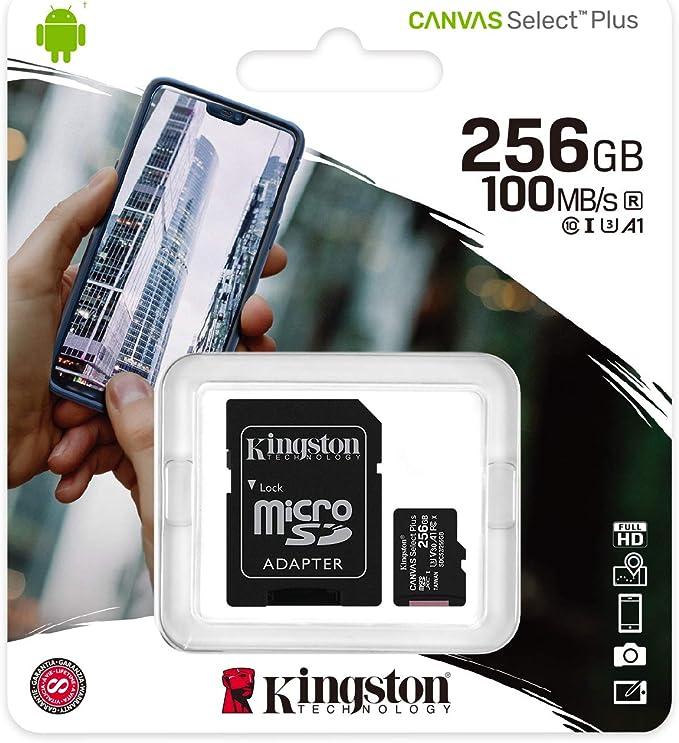 Kingston Canvas Select Plus Microsd Card Black 256gb Computers Accessories
