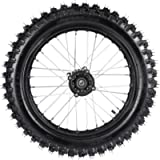 ZXTDR Rear 90/100-16 Wheel Tire & Rim Inner Tube With 15mm Bearing Assembly for Pit Pro Trail Dirt Bike