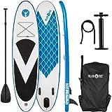 Klarfit Spreestar Tabla de pie Hinchable • Paddleboard • Paddle Surf • Tabla Sup • Bomba de Aire • Pala • Correa de Seguridad • Mochila de Transporte • Kit reparación