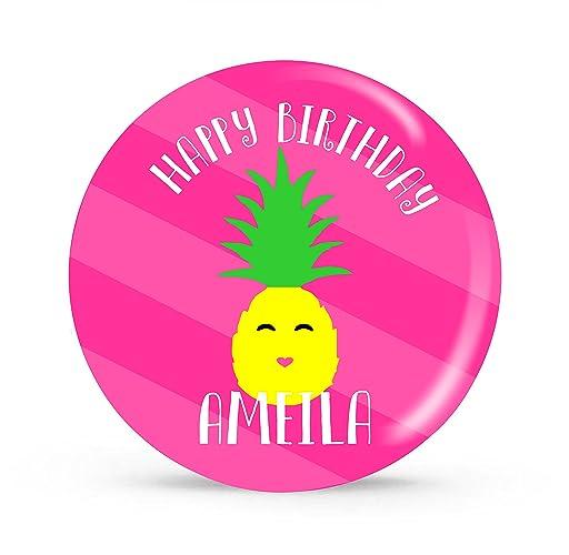 Personalized Melamine Birthday Plate Pineapple Love  sc 1 st  Amazon.com & Amazon.com: Personalized Melamine Birthday Plate Pineapple Love ...