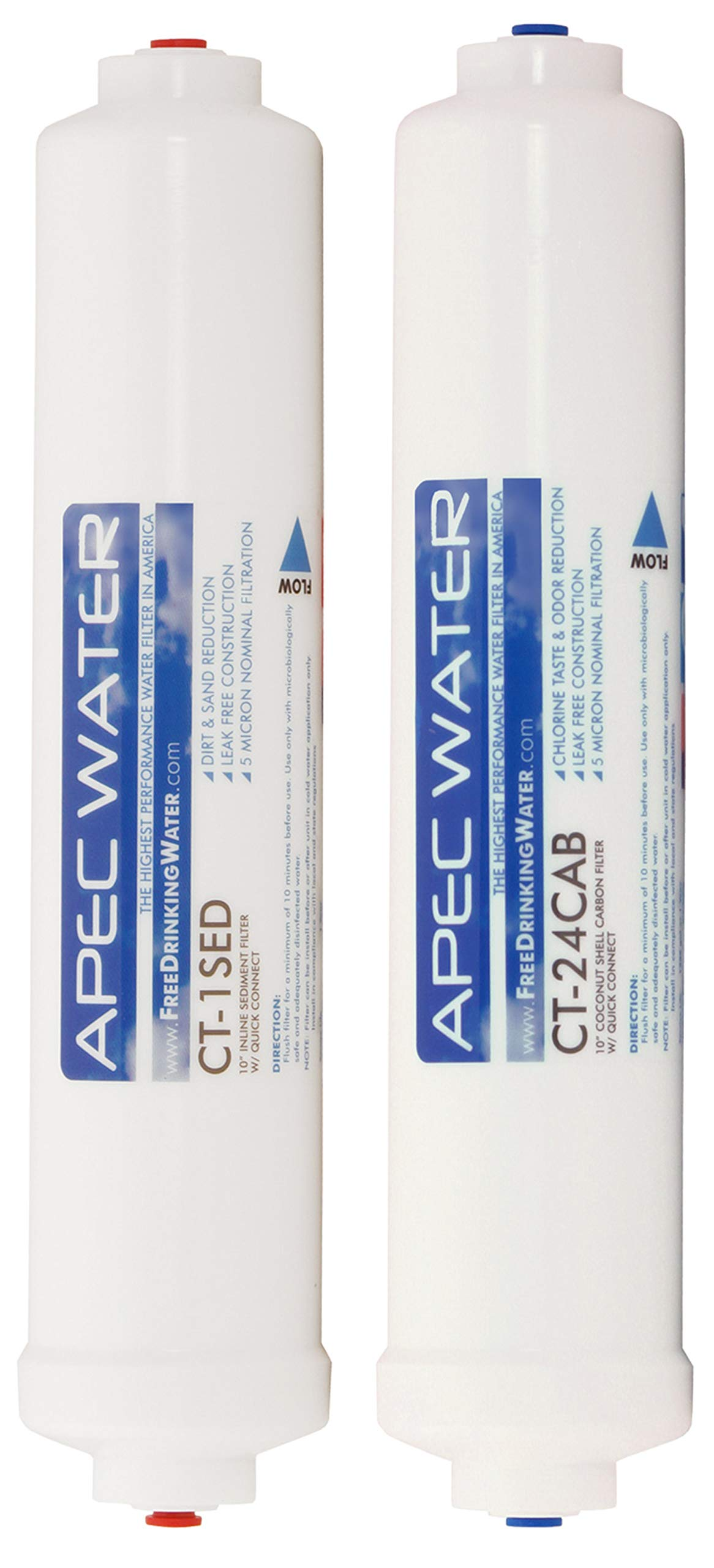 APEC Water Systems FILTER-SET-CTOP US Made Double Capacity Replacement Filter Set For Ultimate Series Countertop Reverse Osmosis Water Filter System Stage 1-2 by APEC Water Systems