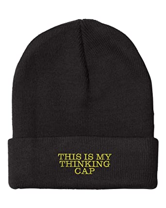 Amazon This Is My Thinking Cap Embroidery Embroidered Beanie