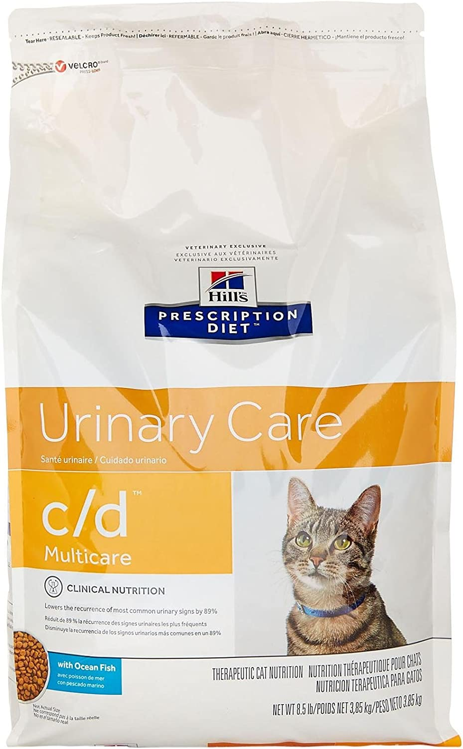 Hill'S Prescription Diet C/D Multicare Feline Urinary Care - Ocean Fish - 8.5Lb