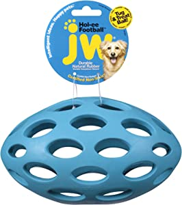 JW Pet Hol-ee Football Dog Chew Puzzle Toy, Large