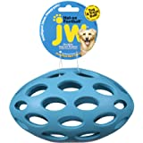 JW Pet Company HOL-ee Football Size 8 Rubber Dog Toy, Large, Colors Vary