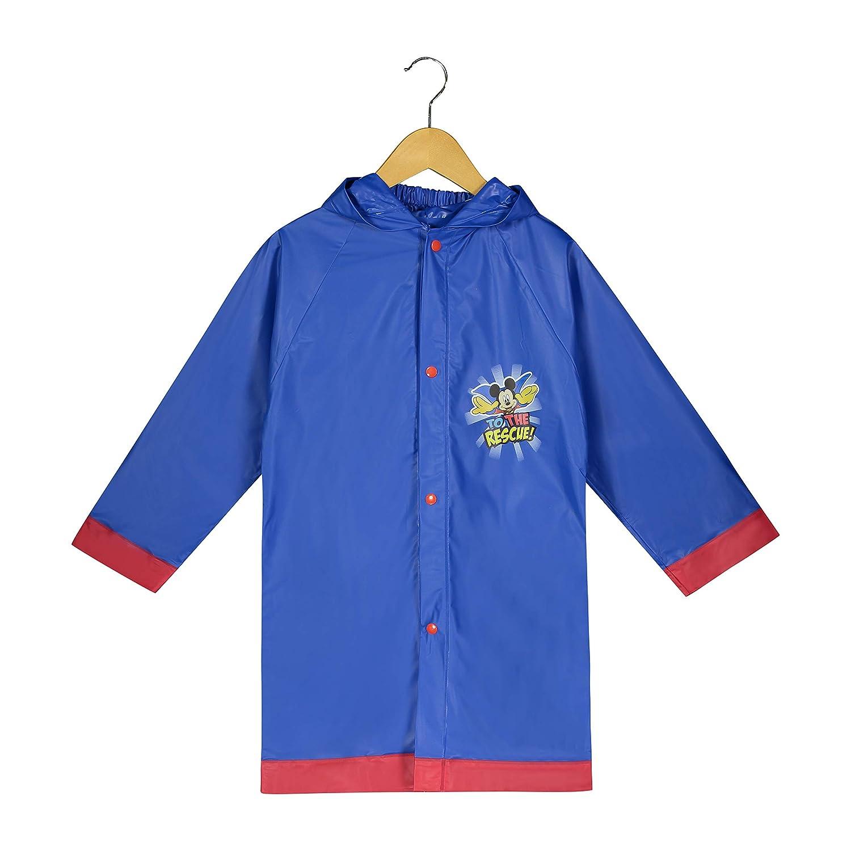 Disney Little Boys' Mickey Mouse ClubHouse Waterproof Outwear Hooded Rain Slicker - Toddler MSR41671ST