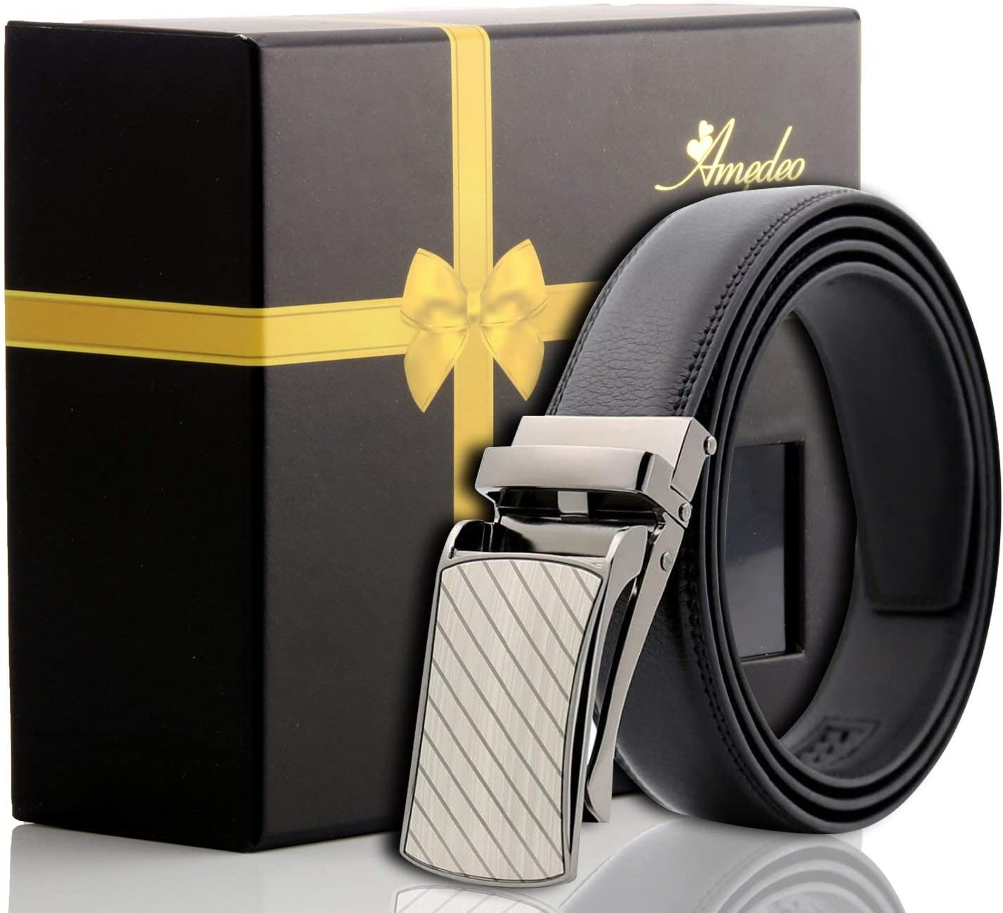 genuine leather automatic belt Mens Black Leather Belt Turkey made no holes needed perfect size belt