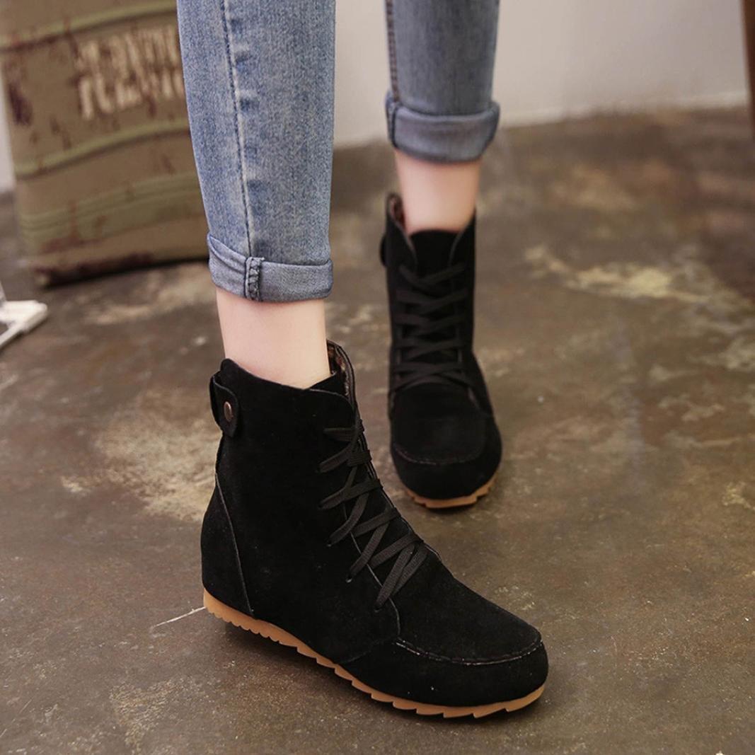Botas Mujer, Amlaiworld Botines Zapatos de Tacón Zapatos Mujer otoño Invierno Plataforma: Amazon.es: Zapatos y complementos