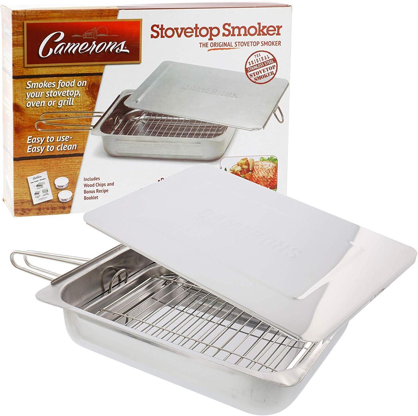 Fumador de estufa cameron, chips e instrucciones/libro de recetas.: Amazon.es: Hogar