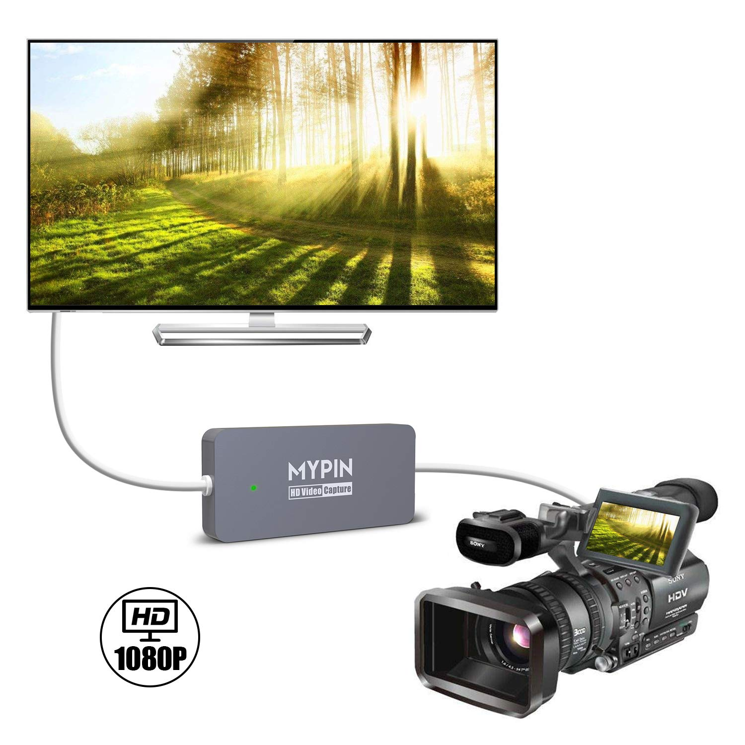 MYPIN USB3 0 Type-C HD Game Video Capture Card HDMI 1080P 60FPS Recorder  Video from Gaming Console, Camcorder, DSLR to Android/Windows/Mac  Ultra  Low