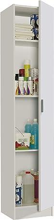 Comprar Habitdesign 007141O - Mueble Armario Multiusos, 1 Puerta, Color Blanco, Medidas: 37 cm (Largo) x 182 cm (Alto) x 37 cm (Fundo)