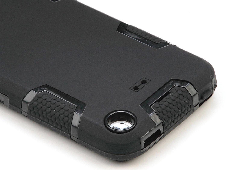 Negro//Azul ULAK iPod Touch 5 Caso Funda iPod Touch 6 Case de Silicona a Prueba de Polvo Cubre la Cubierta h/ñbrida y la Moda a Prueba de Golpes para la 6//5 generaci/ón de Mayo Manzano iPod Touch