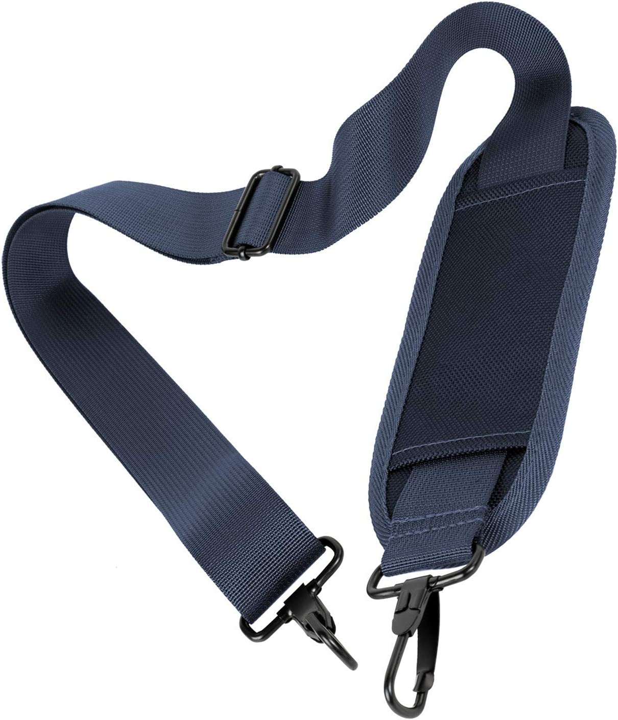Taygeer Padded Shoulder Strap, Adjustable Strap Replacement for Laptop Case Duffle Bag Garment Bag Cosmetic Case Messenger Bag Briefcase, Durable Nylon Crossbody Belt for Carrying with Hook Clip,Blue