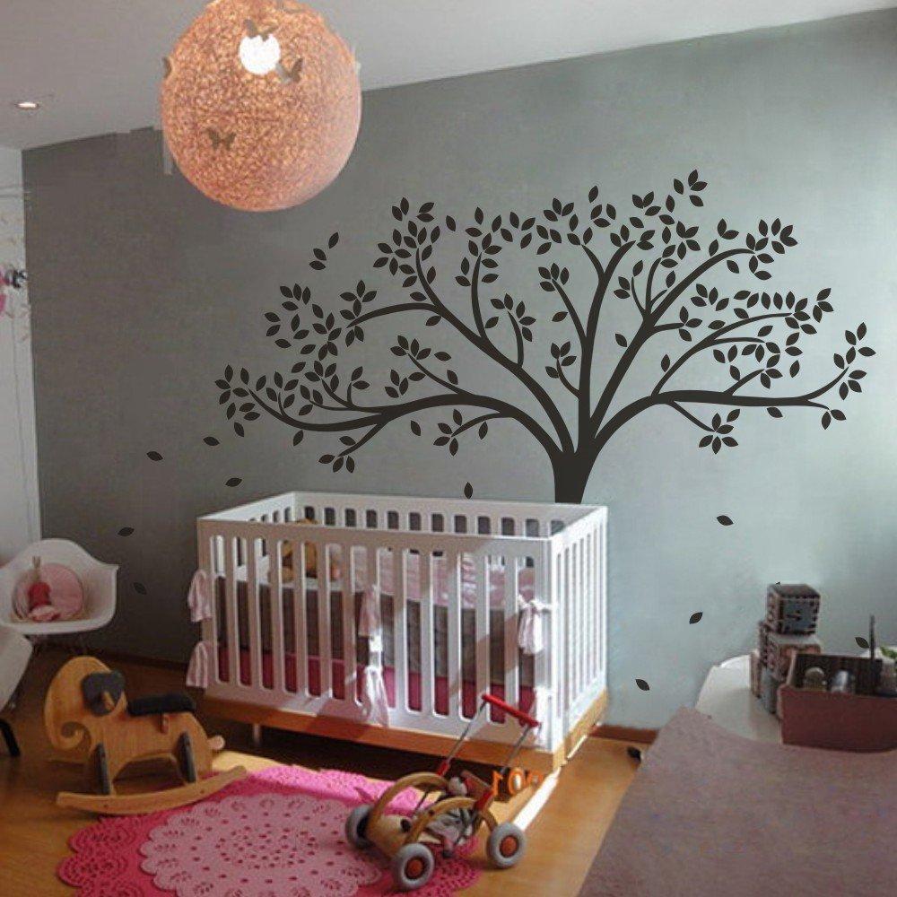 Vinyl Tree Wall Decal Tree Wall Sticker Fall Tree Wall Decor Nursery Wall  Decal Baby Nursery Room Art Decor White: Amazon.co.uk: Kitchen U0026 Home