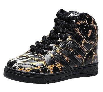 adidas Originals Jeremy Scott Instinct Hi Leopard Infant/Kids Trainers UK 4K