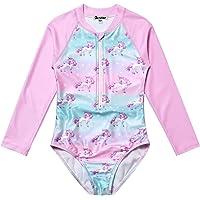 Jxstar Girls Rash Guard One Piece Mermaid/Unicorn Swimsuit Swimwear UPF 50+ UV
