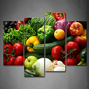 Firstwallart Colorful Various Vegetables Wall Art Painting Pictures Print On Canvas Food The Picture For Home Modern Decoration