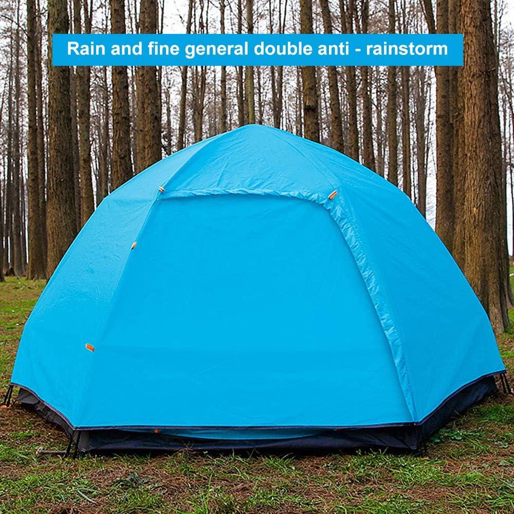Qrout Pop Up Zelt Camping 3-4 Personen Wasserdichtes 50 UV Schutz Automatische Doppellagiges Gro/ße Familie Zelte f/ür Backpacking Picknick Wandern Reisen Strand 240 x 240 cm