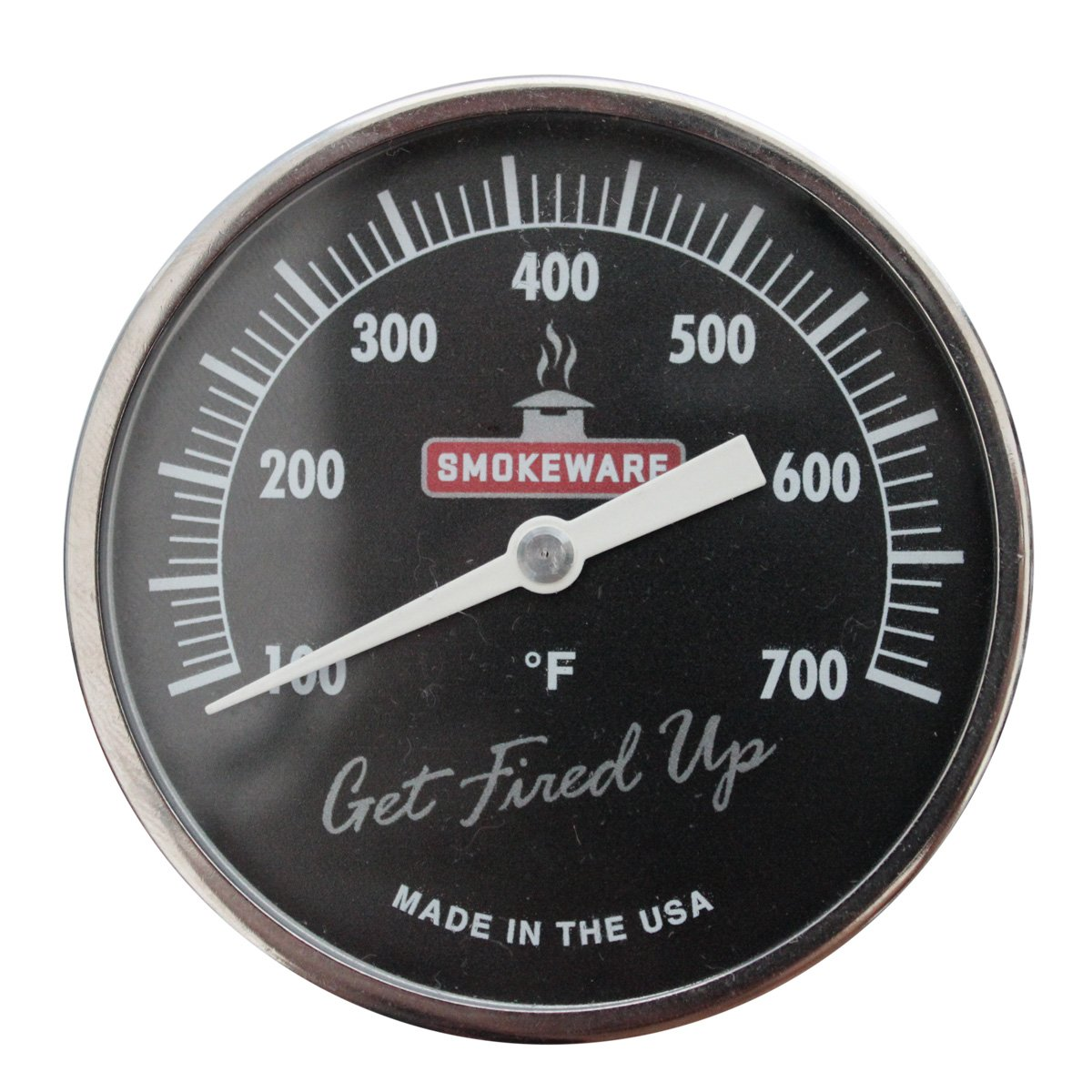SmokeWare Temperature Gauge - 3-inch Face, 0-700°F Range, Black, Replacement Thermometer for Big Green Egg Grills, Made in The USA by SmokeWare