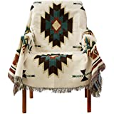 PHNAM Throw Blanket with Fringe for Couch Bed Soft Decorative Cozy Woven Knit Warm Bed Throws Reversible for Chair, Sofa, Liv