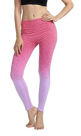 5fc8593da71f Damen Sport Leggings Active Tights Yoga Pants Running Workout Hosen Lila  Tag(L)