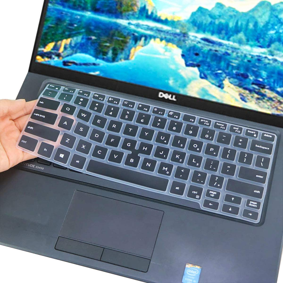 Keyboard Cover Design for 2020 2019 Dell Latitude 5400 5401 7400 14 Inch with Pointing Laptop |Dell Latitude 14 Series 5411 US Layout Keyboard Cover Skin -Black…