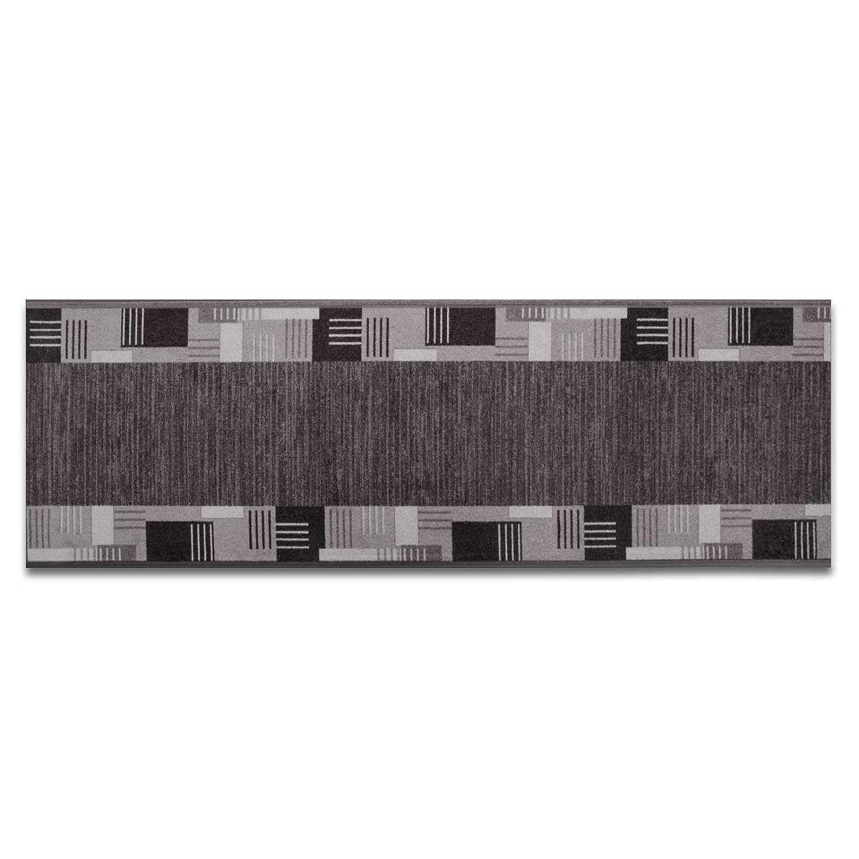 Casa pura Läufer mit Zeitloser Musterung   grau     Qualitätsprodukt aus Deutschland   GUT Siegel   kombinierbar mit Stufenmatten   3 Breiten und 27 Längen (100x375cm) B013WVXQ68 Lufer f6fb8b