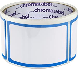 ChromaLabel 2 x 3 Inch Dry Erase Labels, 50/Roll, Anti-Smear Protective Flap