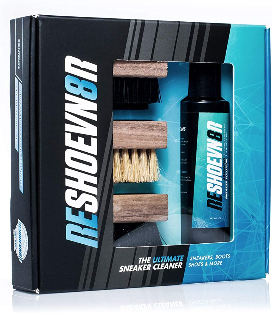 Reshoevn8r 4 oz. 3 Brush Shoe Cleaning Kit
