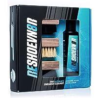 Kit de 3 cepillos para limpieza de zapatos con solución Reshoevn8r 4 oz.