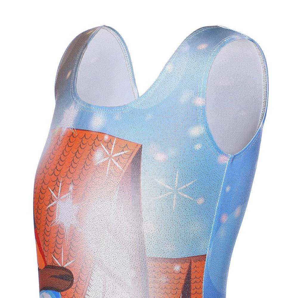 Kidsparadisy Sparkle Justaucorps de Gymnastique pour Fille Danse sans Manches Ballet Unitards Dancewear